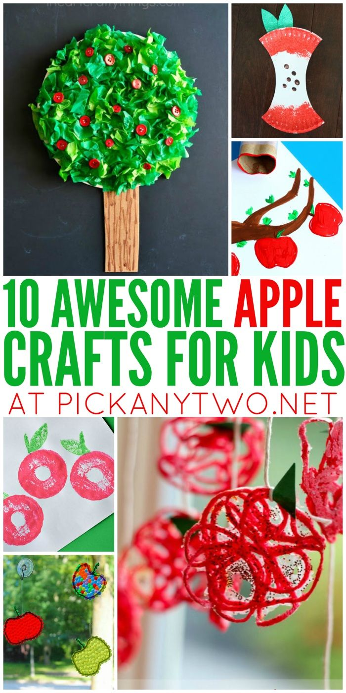 Get into the spirit of fall with these 10 awesome apple crafts for kids!