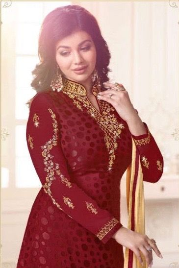 | OCCASIONAL WEAR | GEORGETTE & BRASSO DRESSES |  OCCASIONAL WEAR | GEORGETTE & BRASSO DRESSES  | MAROON COLOUR BRASSO DRESSES |