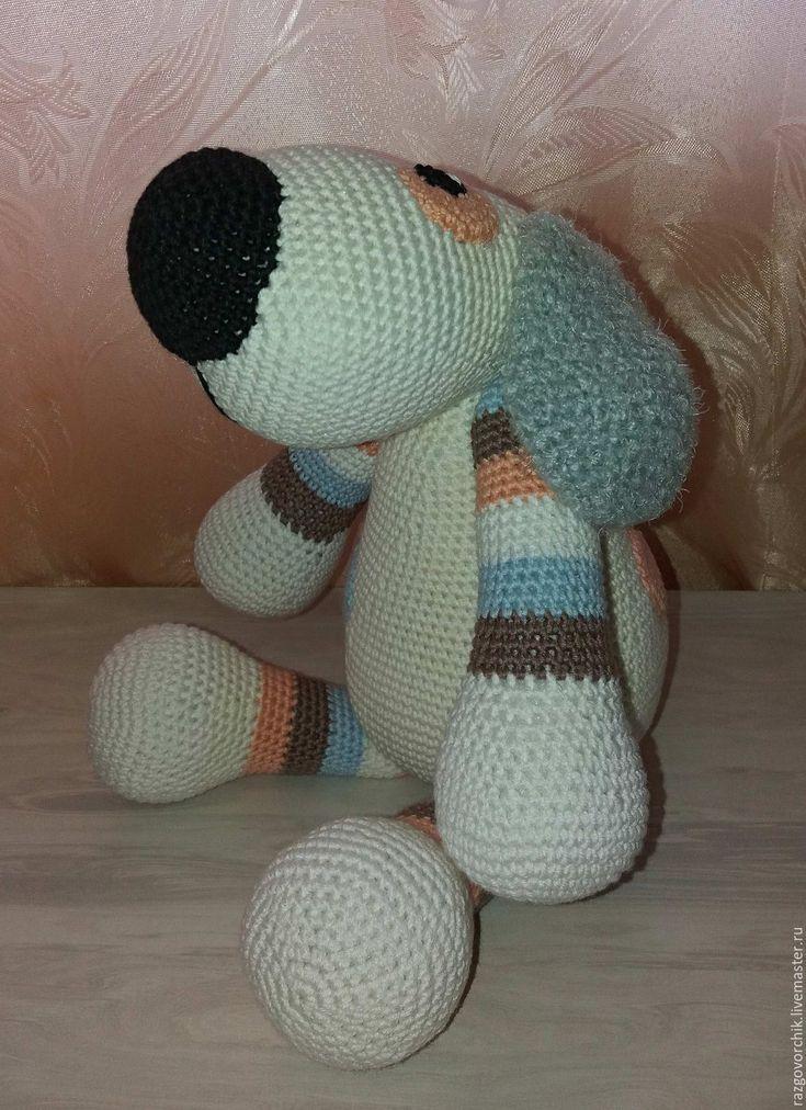 Купить Вязаная собака - комбинированный, собака, собаки, собачка игрушка, собака ручной работы
