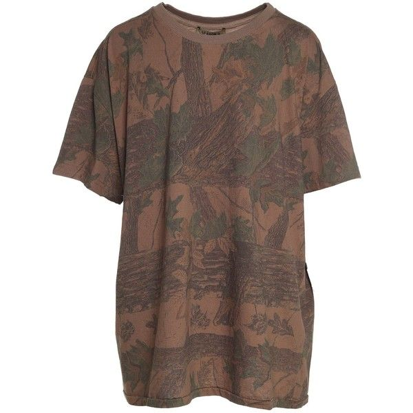 Yeezy by Kanye West Season 4 Leaf-Print Cotton-Jersey T-Shirt ($260) ❤ liked on Polyvore featuring tops, t-shirts, multicolor, cotton jersey t shirt, cotton jersey, multi color t shirts, drop shoulder tops and multi color tops