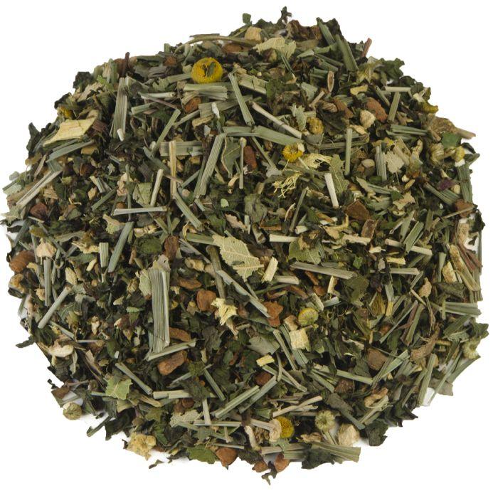 DRAKENMIX | Drakenmix is een zoete thee, die het vooral goed doet op een koude, winterse dag. De aromatische mix van kruiden en specerijen doet je bijna verlangen naar slecht weer. Kaneel, zoethout en gember maken van deze thee een ware seizoensfavoriet. |