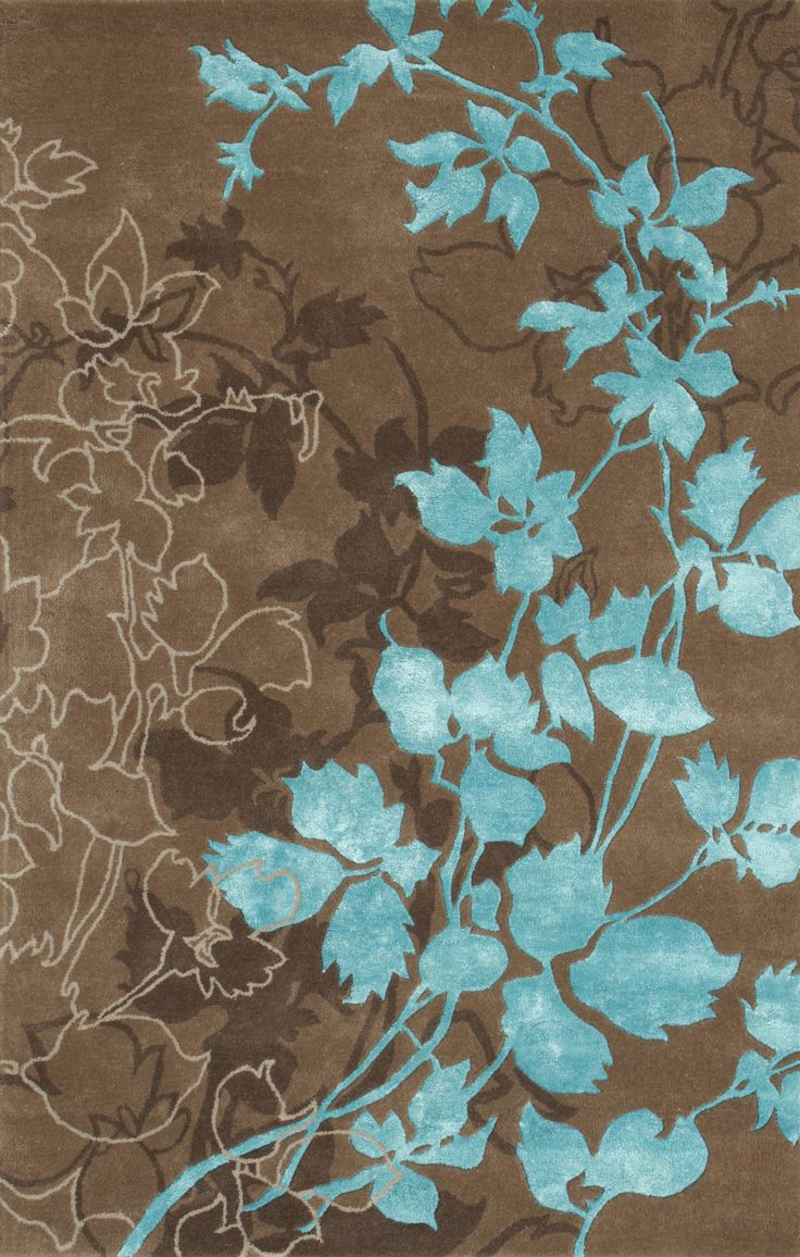 Dahlia brown turquoise area rug wool colors and for Area carpets and rugs