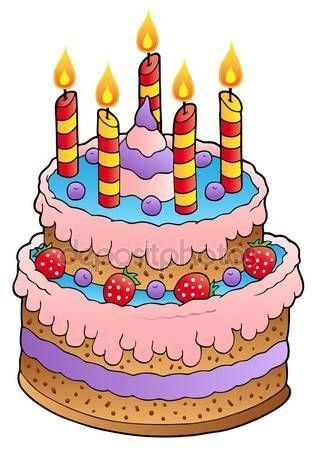 Výsledek obrázku pro dorty k narozeninám kreslené