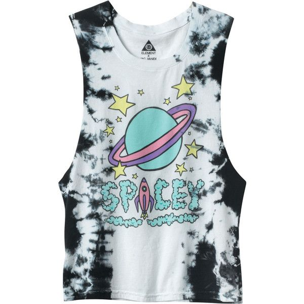 Spacey Muscle T-Shirt ($36) ❤ liked on Polyvore featuring tops, shirts, tank tops, tanks, jersey shirts, muscle tee shirts, screen print shirts, jersey tank and shirts & tops