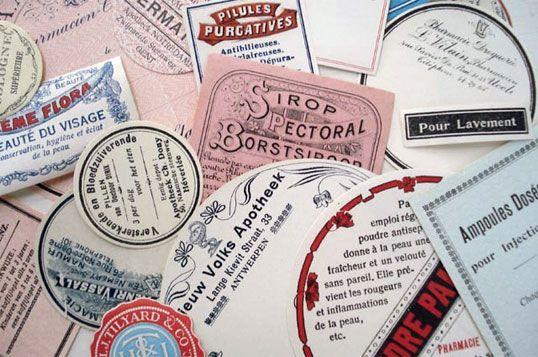 vintage medicine labels