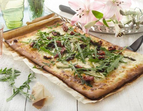 Spargelpizza Rezept