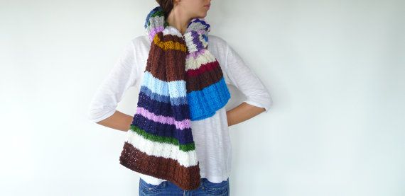 I'm the most colorful and cheerful hand knit scarf in by KEENbyAM, €36.30