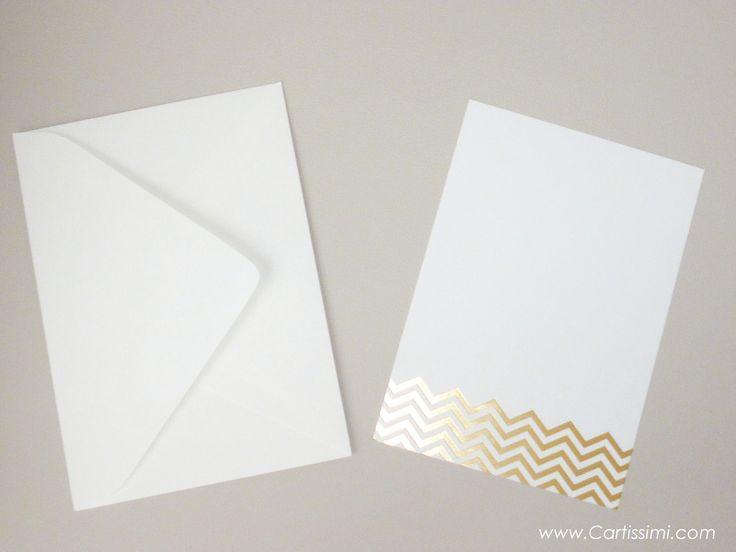 5+Luxuriöse+Einladungskarten+Gold+Chevron+Muster+von+Cartissimi+auf+DaWanda.com