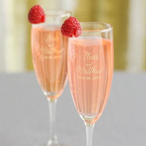 Personalized Champagne Flute Favors by Beau-coup