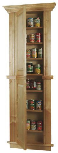 Free Standing Wood 30 Inch Wide Pantry Storage Systems For