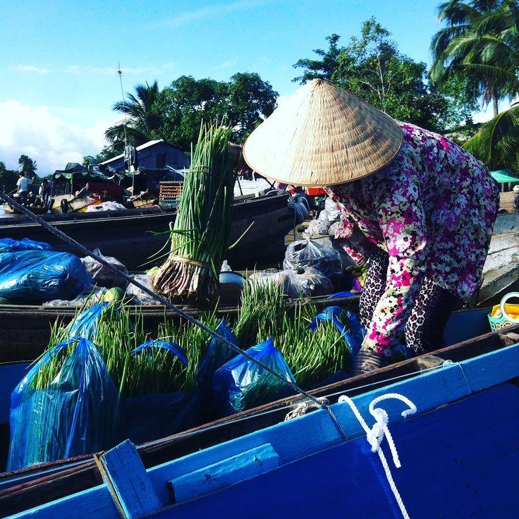 Delta du Mékong, marché flottant de Phong Dien - Mekong Delta, Phong Vien floating market - Cho Phong Dien - Can Tho - Vietnam
