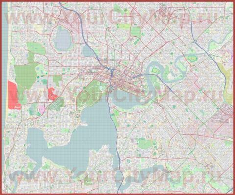 Подробная карта города Перт