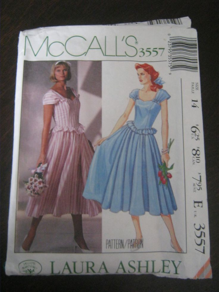Vintage Sewing Pattern, Ladies Occasion Dress, Prom Dress, Flower Girl, Bridesmaid Dress, Laura Ashley, Romantic, McCall's 3557, Size 14 by lechatrire on Etsy