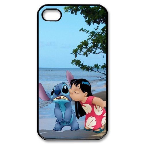 online store 3cfa7 0b903 Amazon.com: Disney Lilo Stitch Hard Plastic White case for Iphone 4 ...