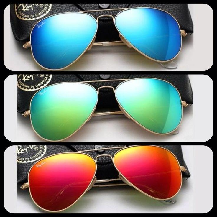 Ray-Ban,  aviators, colours, azules,  verdes y rojos.  $2,200.