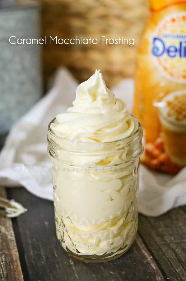 Caramel Macchiato Frosting - the perfect frosting recipe for fall. on kleinworthco.com #CreateDelight #ad