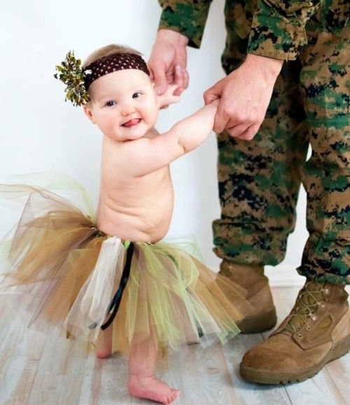 camo tutu!: Safe, Babies, Camo Tutu, Little Girls, Picture Idea, Military Baby, Baby Girls, Photo