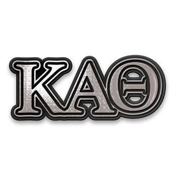 Kappa Alpha Theta Sorority Chrome Car Emblem - Brothers and Sisters' Greek Store