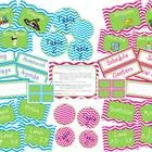 Chevron Classroom Labels Set Includes:(Each of the following is including in both a blue chevron