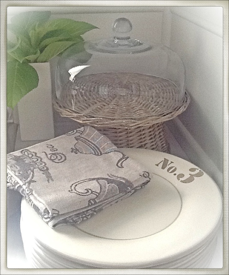 RedCurrant NZ | Bargains ~ No 3 plates down to $4.50 each ~ Tea towels 3 for $15 ... I'm going to cut them in half to make serviettes ~ The Rattan cake plate and lid only $25