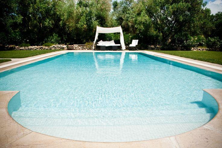 Beautiful swimming pool in Italy