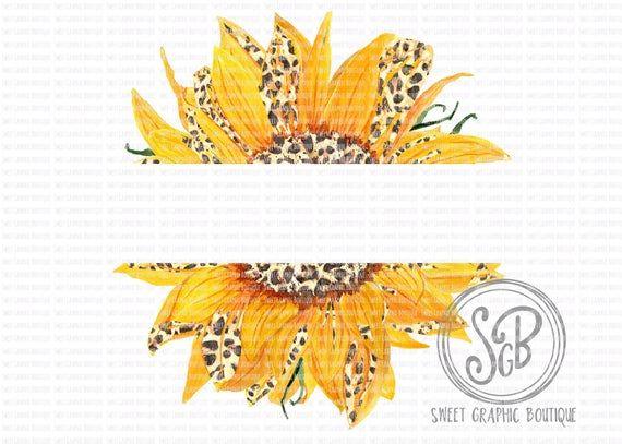 Split Leopard Sunflower Png Sunflower Clipart Sunflower Sublimation Design Leopard Print Design Instant Download Printable Design Sun Sunflower Png Clip Art Sunflower Clipart