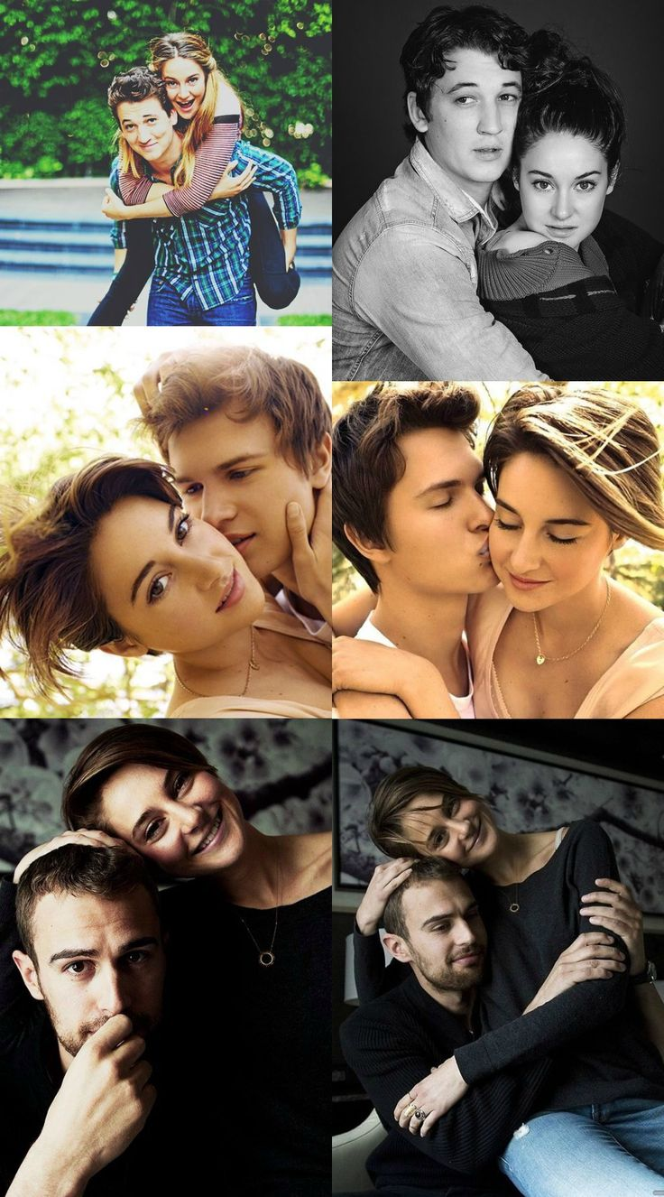 "Shailene Woodley & Miles Taller are a couple in ""The Spectacular Now"". Shailene Woodley & Ansel Elgort are a couple in ""The Fault in Our Stars"". Shailene Woodley & Theo James are a couple in ""The Divergent Series"". BUT! She is also a sister to Ansel Elgort (who was her last movie romance) (awkward), and has slightly become enemies / friends with her other movie romance Miles Teller. I don't know about you but The Divergent series just got a bit more interesting!!!"