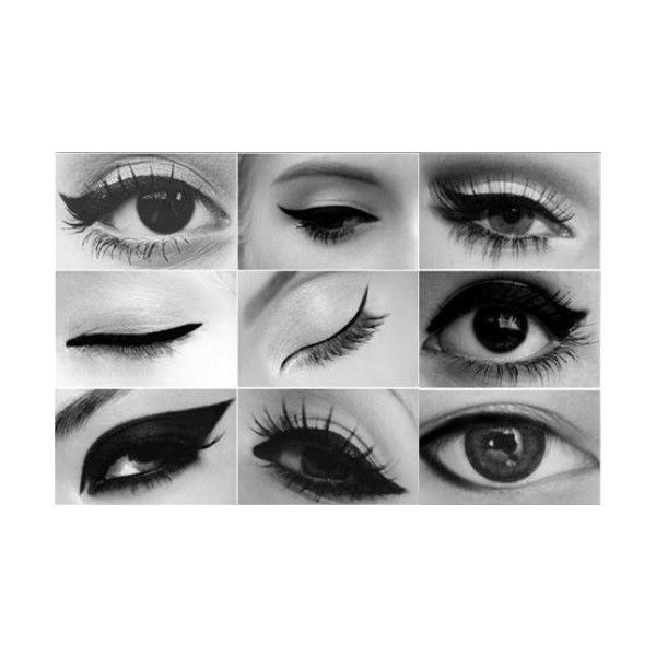 How to Eyeliner aanbrengen Girlscene ❤ liked on Polyvore featuring makeup, eyes, eye makeup, beauty and eyeliner