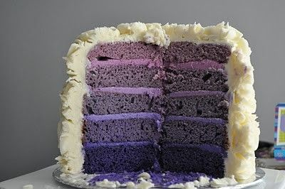 purple...purple...purple: Purple Ombre, Idea, Sweet, Color, Layer Cakes, Ombre Cake, Wedding Cake, Purple Cakes, Birthday Cake