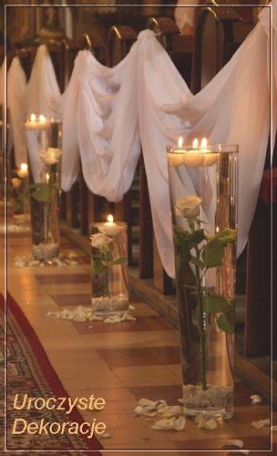 Dekoracje Ślubne kościołów, wystrój kościołów na ślub