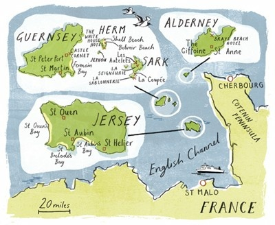 Channel Islands map - day trips