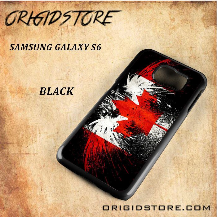 Canada Eagle Flag Black White Snap On Or 3D For Samsung Galaxy S6