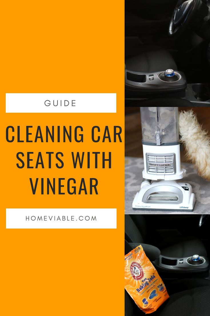 How to clean car seats with baking soda cleaning
