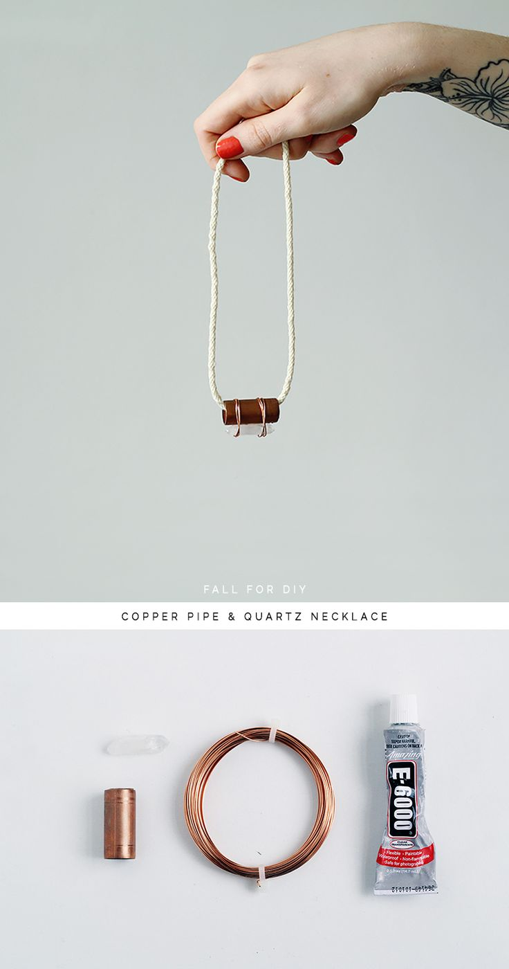 Fall For DIY Copper Pipe and Quartz necklace tutorial