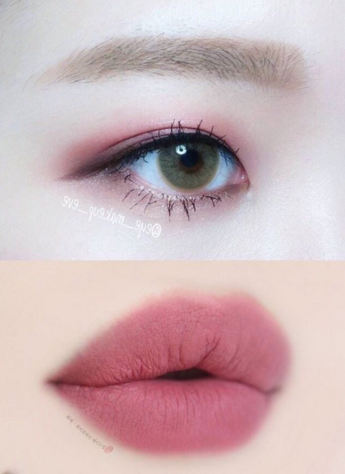 asian makeup cranberry mauve eyes lips
