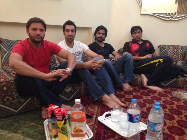 Shahid Afridi , Umar Gul , Fawad Alam And Misbah-ul-Haq At