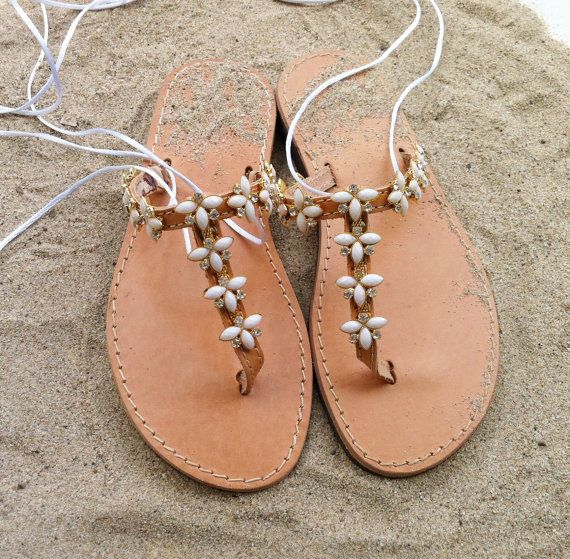 pizzo sandali di cuoio sandali sposa sandali di GreekSandalShop
