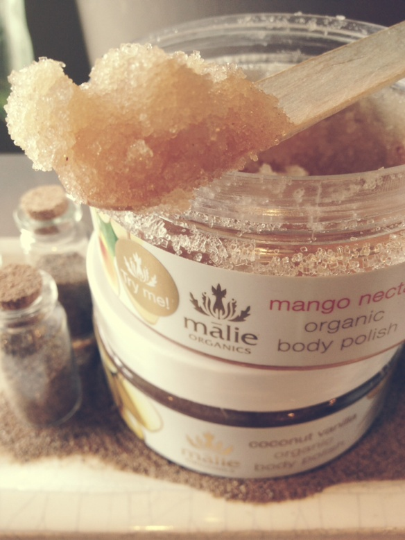 Malie Organics Body Polish-This stuff will leave your skin feeling amazing. You don't even need to moisturize after showering. Mango, Coconut Vanilla or Koke'e, $25 each.