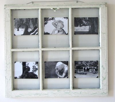 awesome photo frame idea for old window pane with old window frame ideas - Window Pane Picture Frame