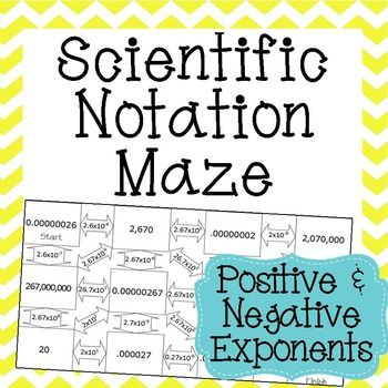 Scientific Notation Maze math Scientific notation, Maths algebra