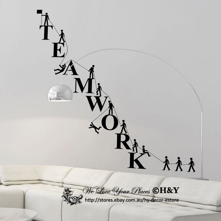 Team Work Spirit Office Company Wall Stickers Vinyl Decal Business Window  Decor
