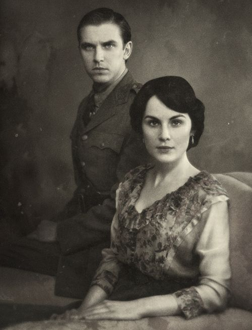 Matthew and Mary in an old fashioned type photo - love it!