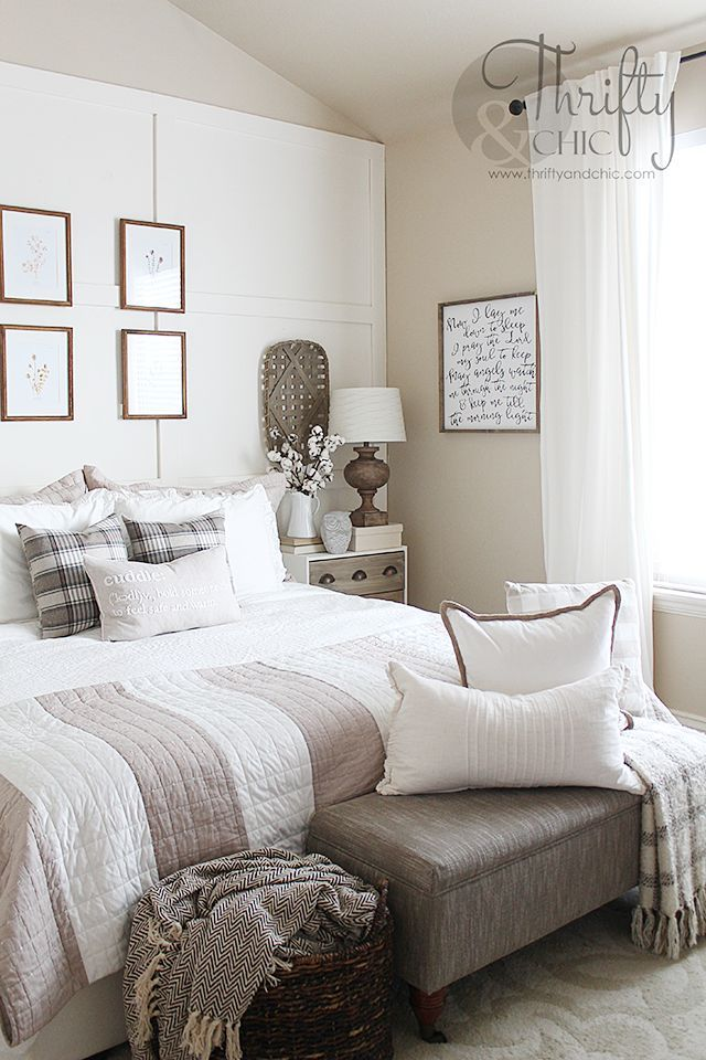 Master Bedroom Makeover With Images Cottage Bedroom Decor Master Bedrooms Decor Neutral Bedroom Decor