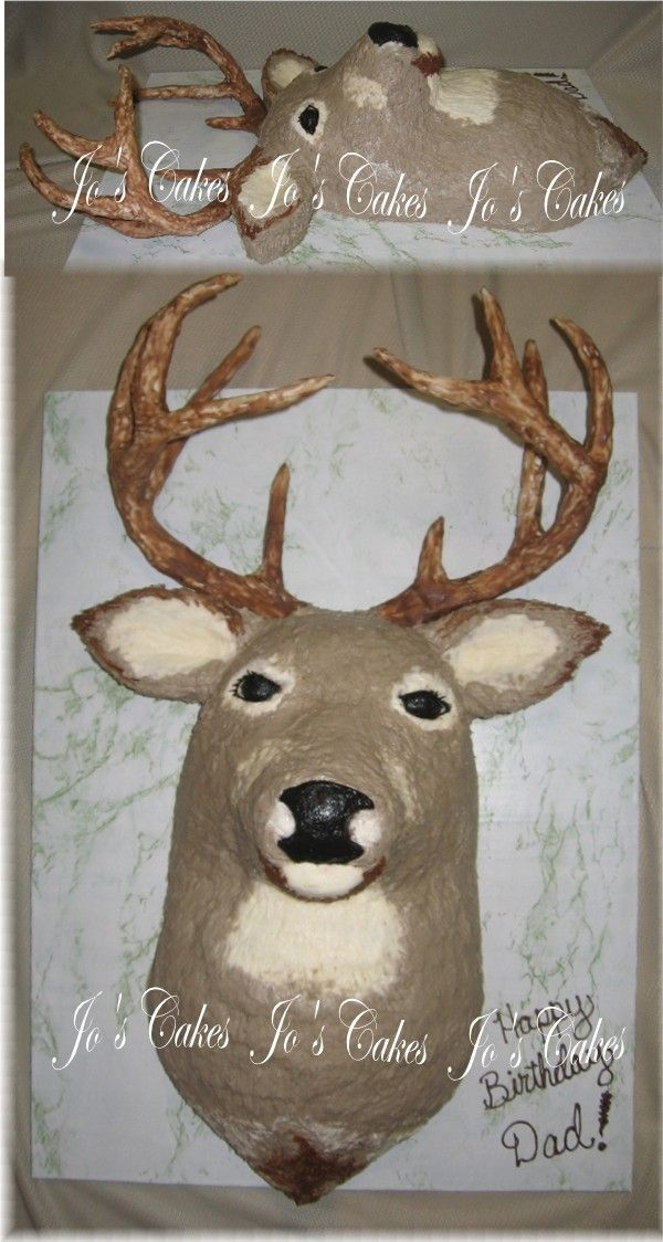 2 dimensional deer head cake
