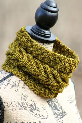 Vaduz Cowl: made with roughly 125 yards of chunky weight yarn and size US 11 needles