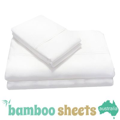 Bamboo Sheets for a Queen Size Bed in White $179.00