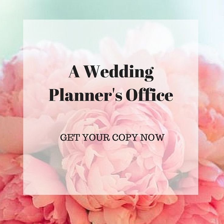 A Wedding Planners Office. Impress your wedding office!