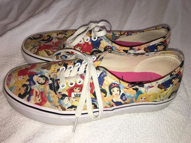 Disney Princess VANS Off The Wall Ladies Size 8.5 Retired Princesses Authentic  #VANS #Comfort