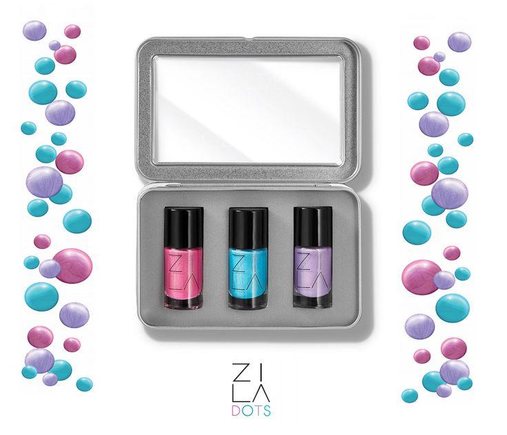 ZILA Dots ZILABOX 3 lakiery do paznokci  - piękne cukierkowe kolory, idealne na lato!   #zila #zilanails #zilalakiery #lakieryzila  #mani #manicure #nailart #nailporn #nails #paznokcie #drogeriapl #drogeria.pl
