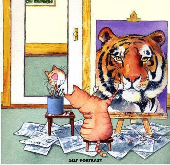 How will you see yourself today?: Motivation Pictures, Norman Rockwell, Self Portraits, Cats Paintings, So True, Selfesteem, Self Images, Geaux Tigers, Self Esteem